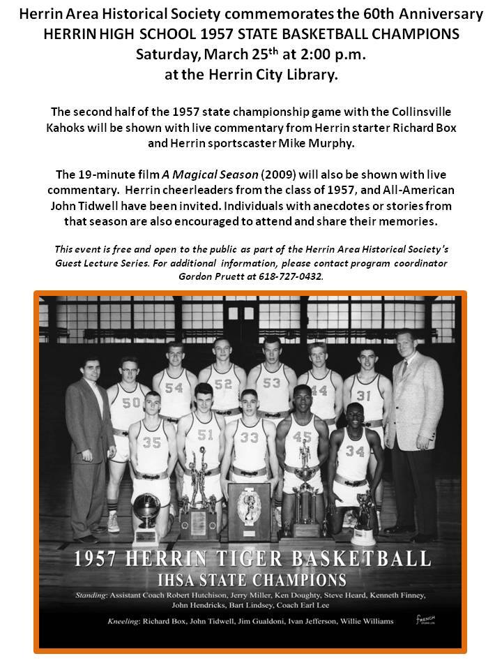 1957 Herrin Tiger State Championship Basketball Event